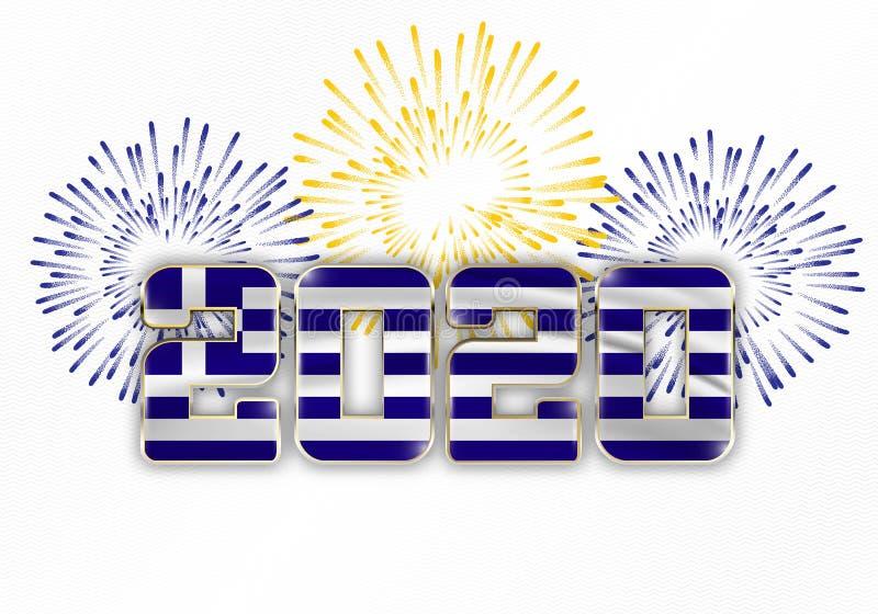Gelukkig Nieuwjaar en vrolijk kerstfeest 2020 stock foto
