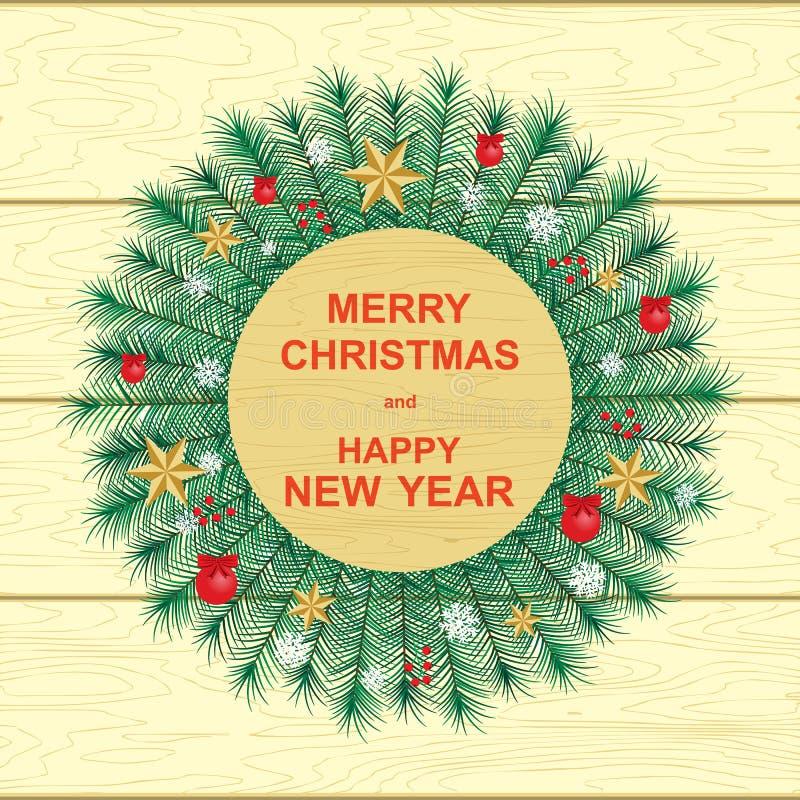 Gelukkig Nieuwjaar en Vrolijke Kerstmis royalty-vrije illustratie