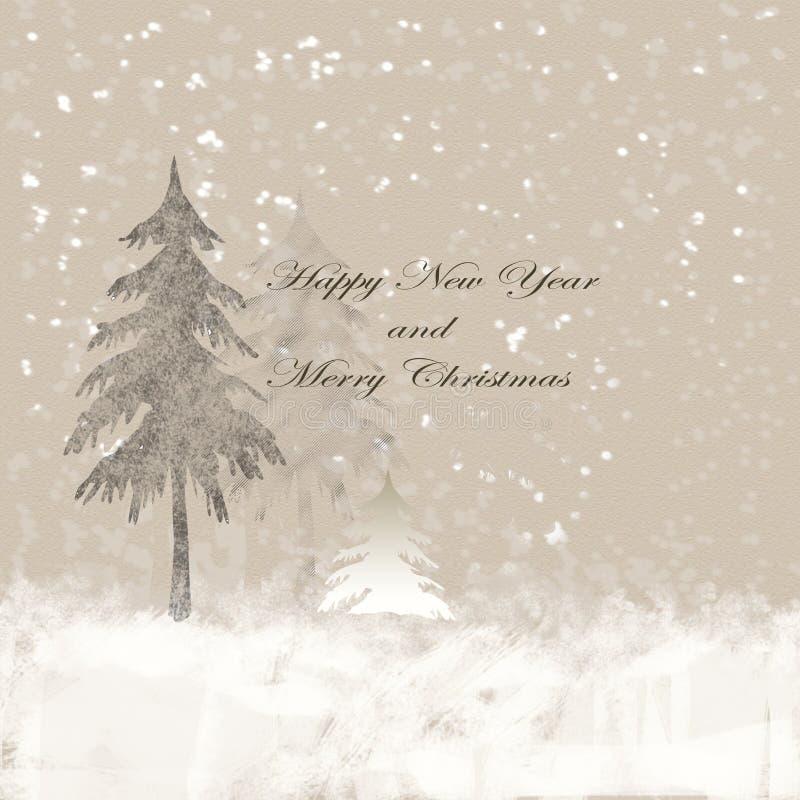 Gelukkig Nieuwjaar en Vrolijke Kerstmis stock afbeeldingen