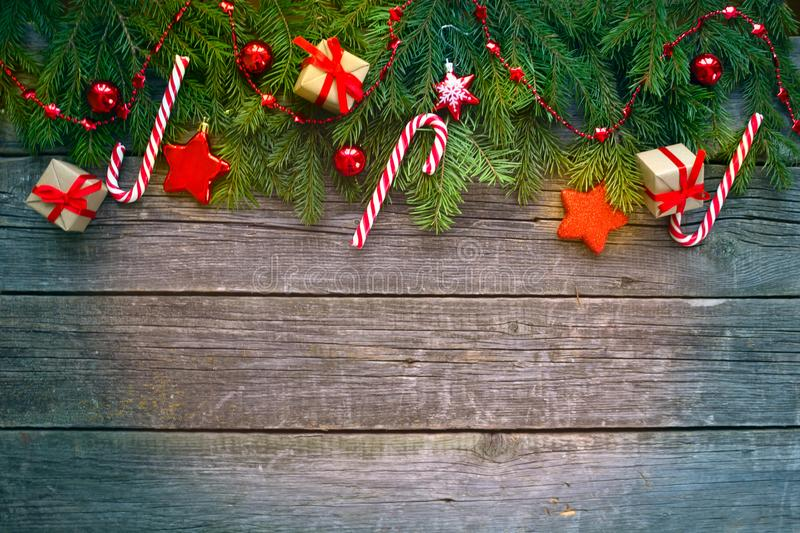 Gelukkig Nieuwjaar en Vrolijke Kerstmis Achtergrond royalty-vrije stock afbeeldingen