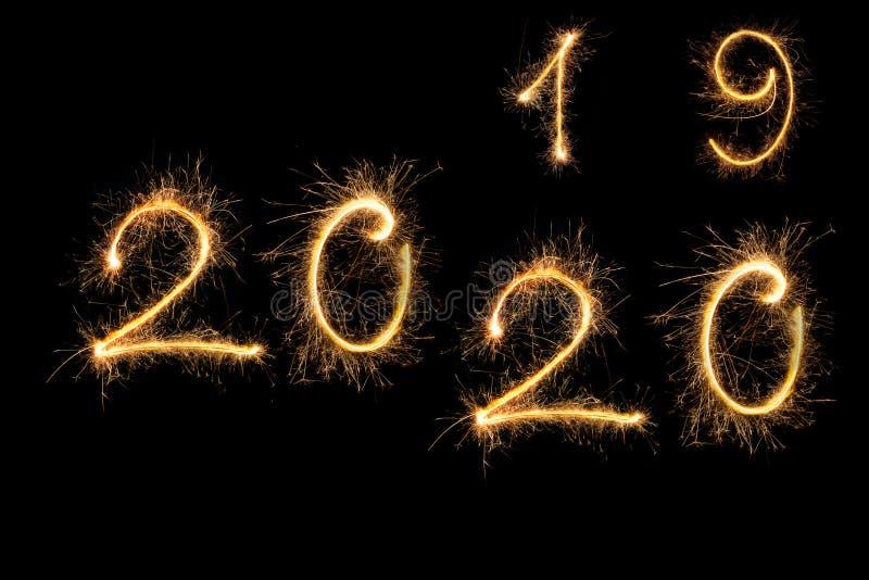 Gelukkig nieuwjaar 2020 stock afbeelding