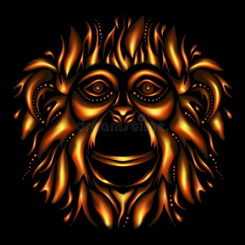 Gelukkig Nieuwjaar 2016 Jaar van de aap royalty-vrije illustratie