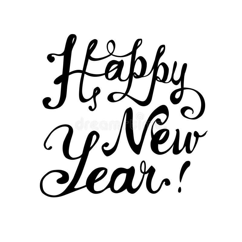 Gelukkig Nieuwjaar Kalligrafische brieven royalty-vrije illustratie