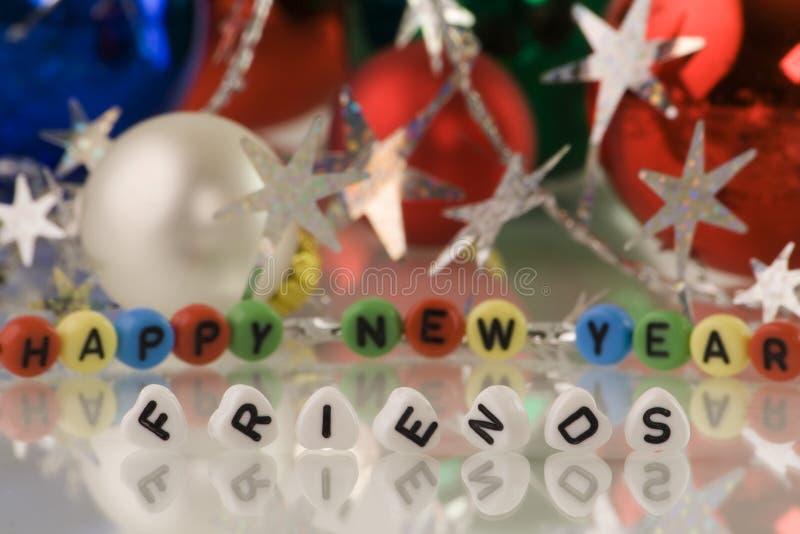 Gelukkig Nieuwjaar! , vrienden! royalty-vrije stock afbeelding