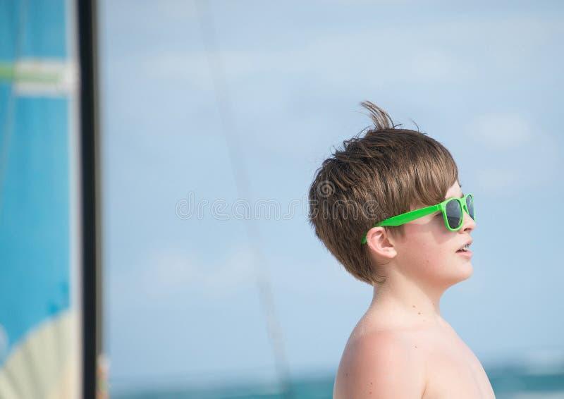 Gelukkig op het strand in Mexico royalty-vrije stock foto's