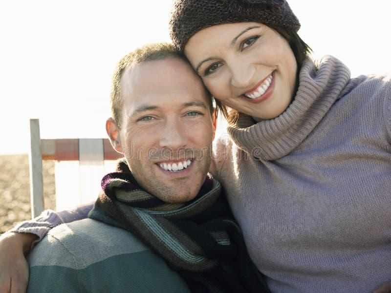 Gelukkig Paar bij Strand royalty-vrije stock foto
