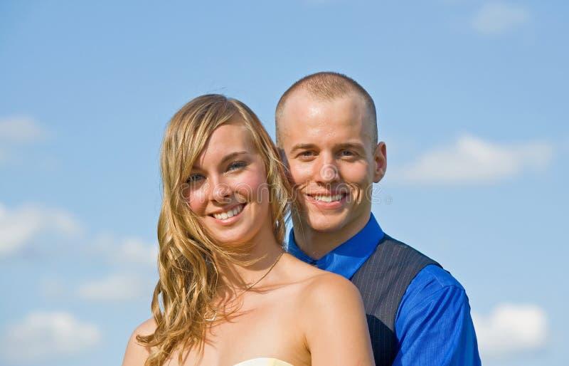 Gelukkig Paar in de Hemel stock fotografie