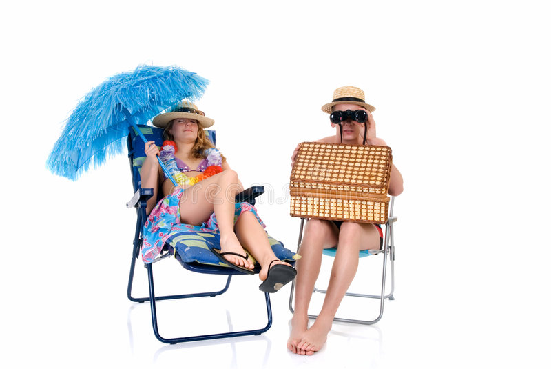 Gelukkig paar, vakantie royalty-vrije stock foto's