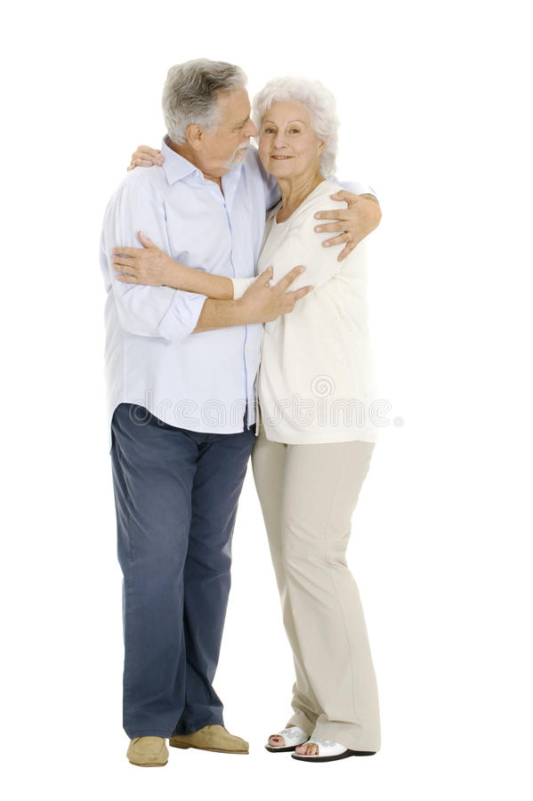 Gelukkig paar van bejaarden stock afbeeldingen