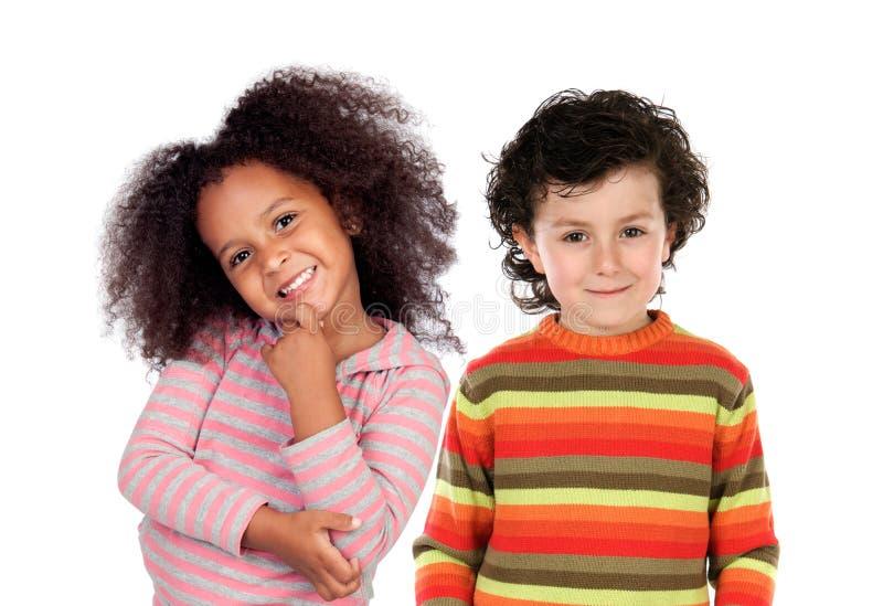 Gelukkig paar van kinderen royalty-vrije stock foto's