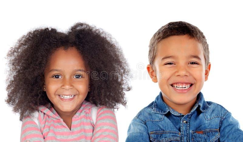 Gelukkig paar van kinderen royalty-vrije stock afbeelding