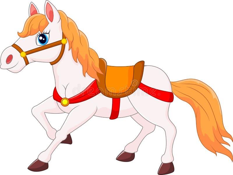 Gelukkig paardbeeldverhaal royalty-vrije illustratie