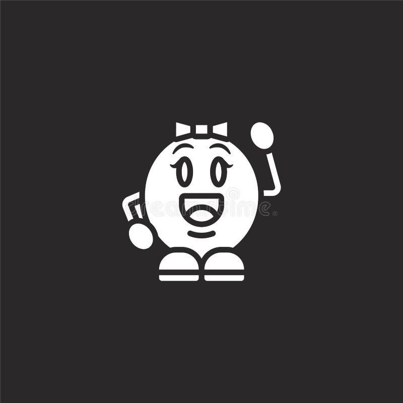Gelukkig pictogram Gevuld gelukkig pictogram voor websiteontwerp en mobiel, app ontwikkeling gelukkig pictogram van de gevulde in royalty-vrije illustratie