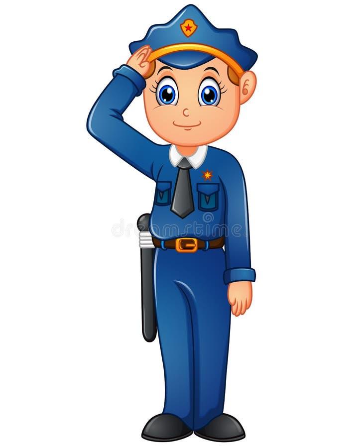 Gelukkig politiebeeldverhaal vector illustratie