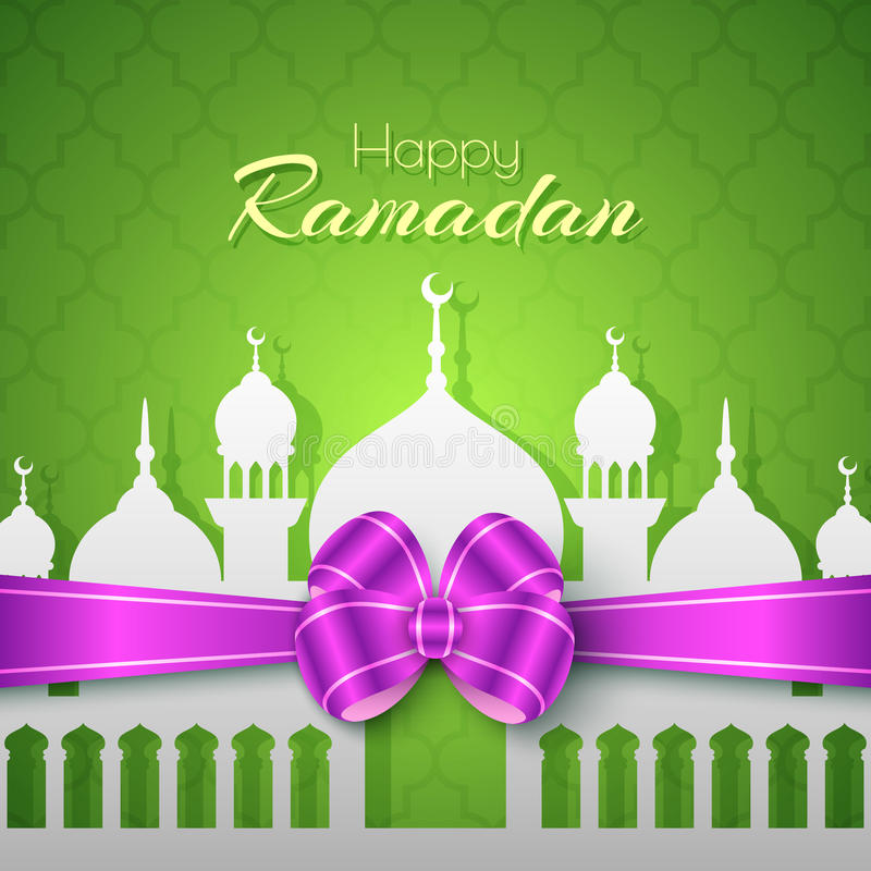 Gelukkig Ramadan Islamic Greeting Background stock illustratie