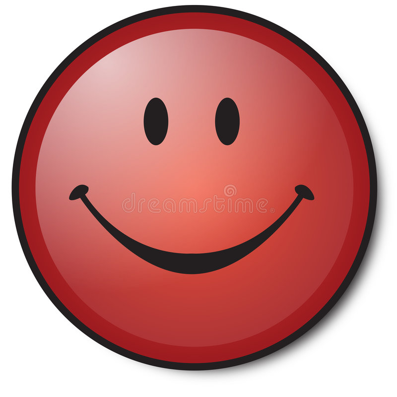 gelukkig Rood smileygezicht vector illustratie