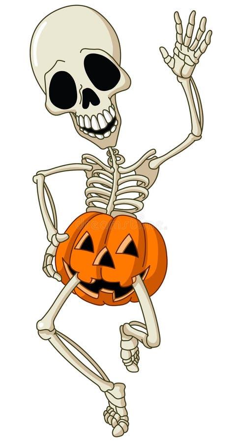 Gelukkig skelet royalty-vrije illustratie