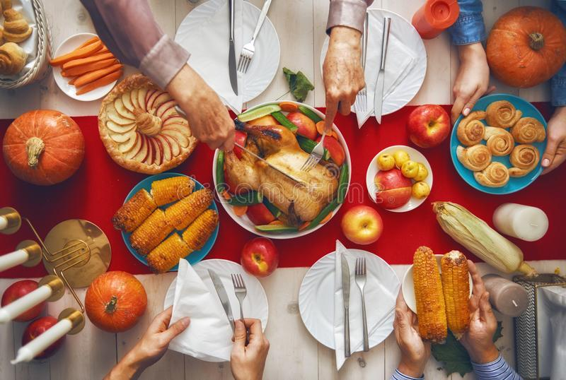 Gelukkig Thanksgiving day stock foto's