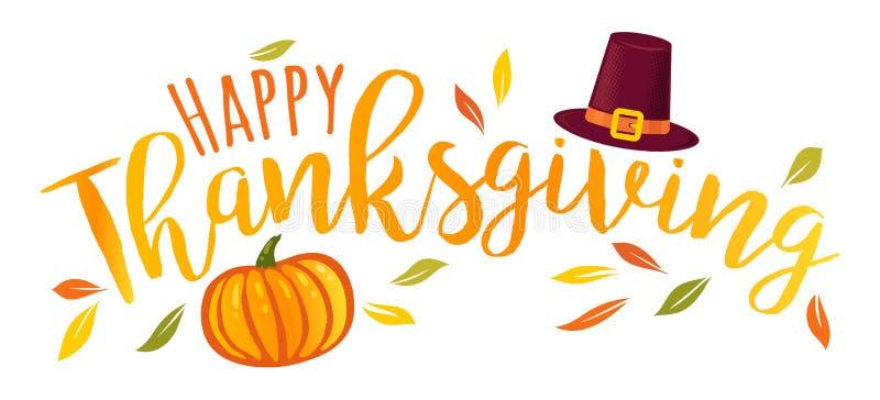 Gelukkig Thanksgiving day vector illustratie