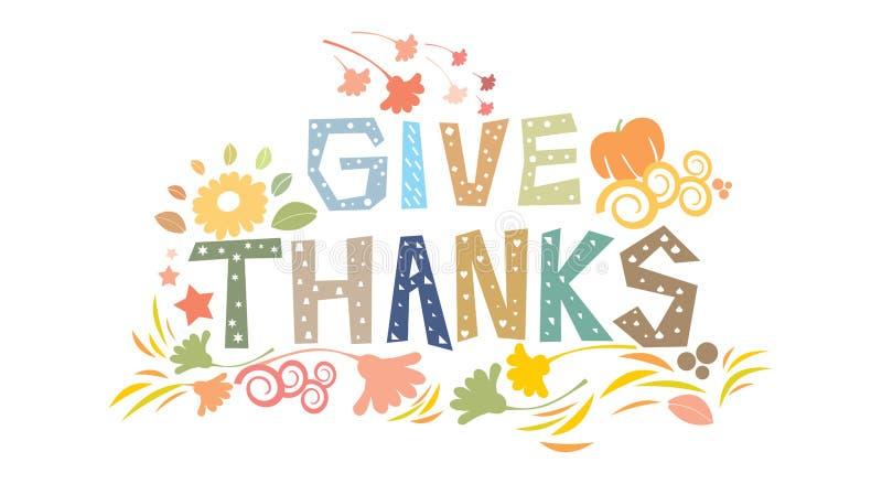 Gelukkig Thanksgiving day stock illustratie