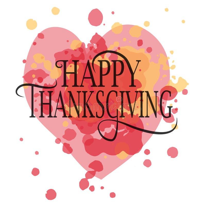 Gelukkig Thanksgiving day logotype stock illustratie