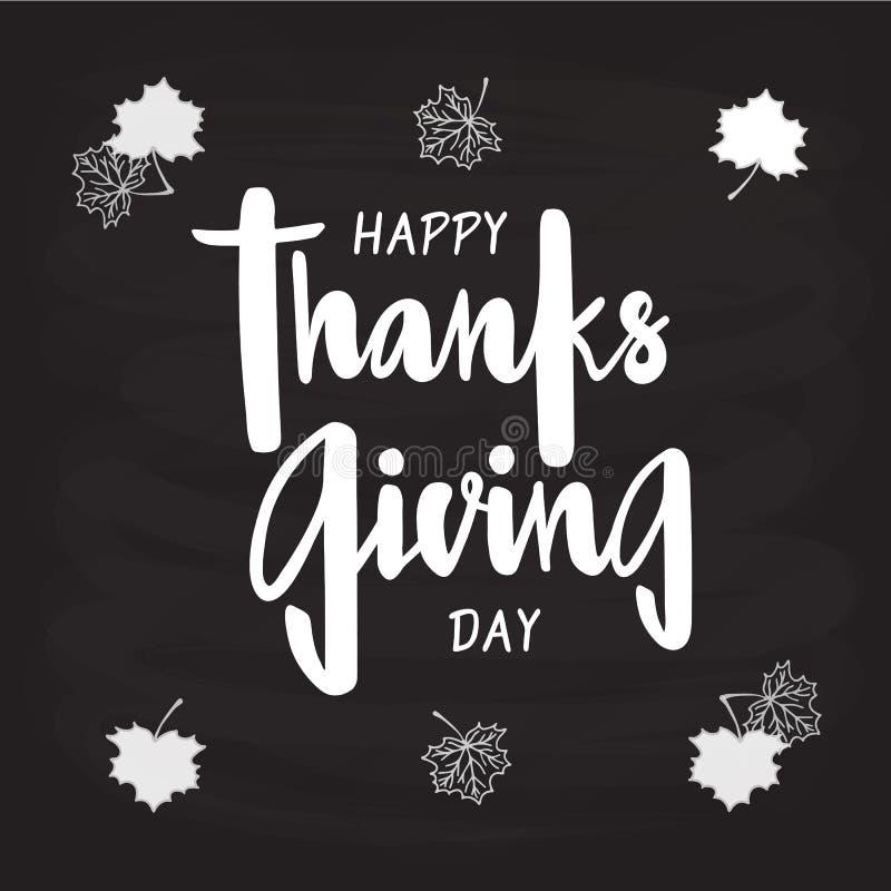 Gelukkig Thanksgiving day voor uitnodiging, groetkaart, prentbriefkaar, typografieaffiche royalty-vrije illustratie
