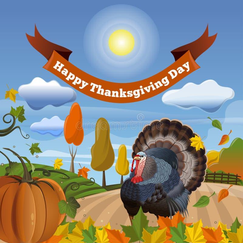 Gelukkig Thanksgiving dayontwerp royalty-vrije illustratie