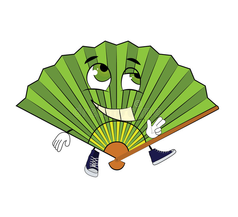 Gelukkig ventilatorbeeldverhaal vector illustratie
