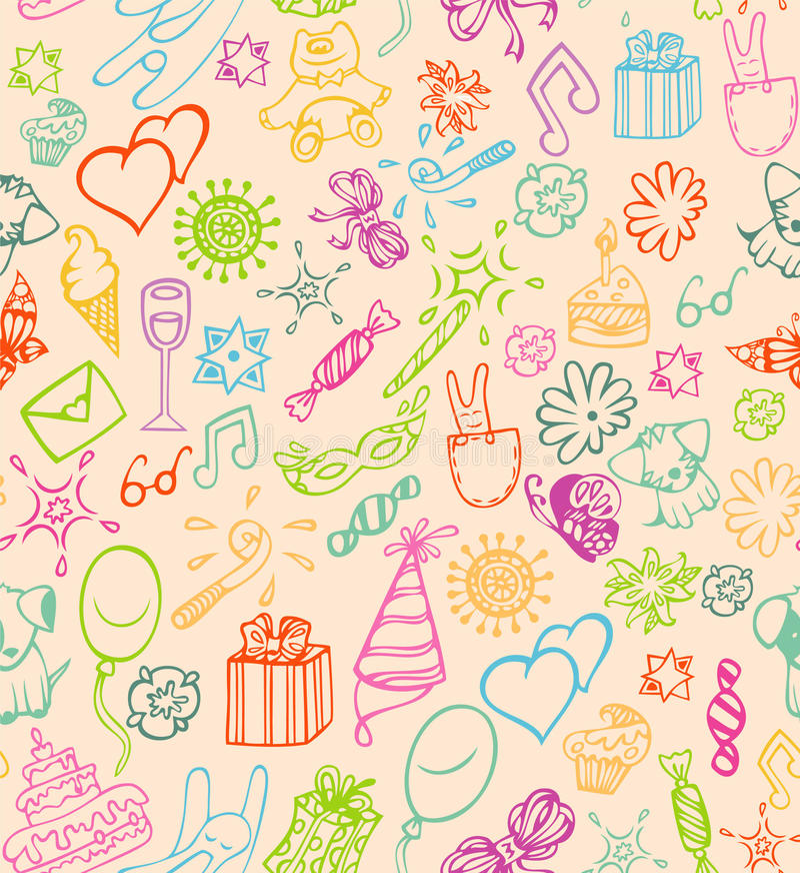 Gelukkig verjaardagspatroon vector illustratie