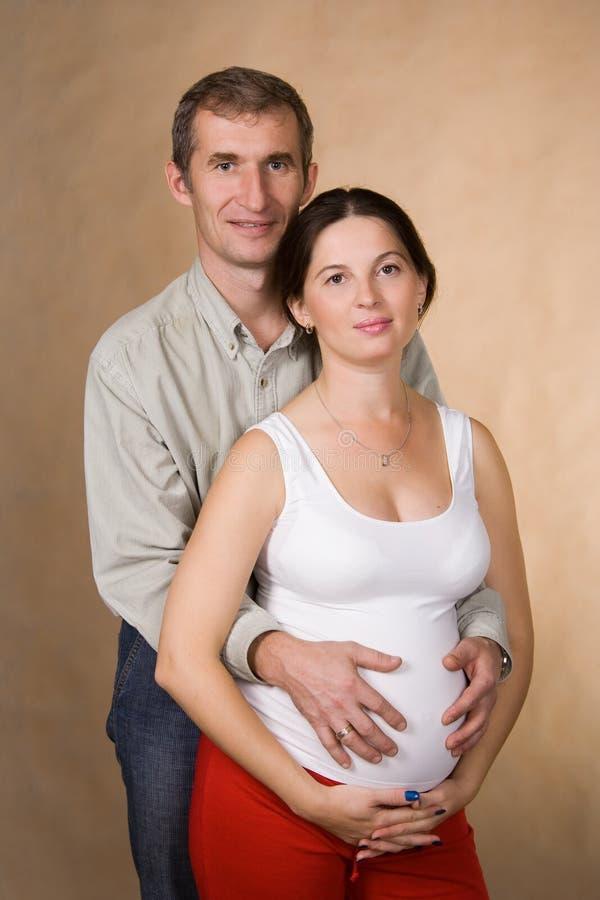 Gelukkig vrouw en manlief royalty-vrije stock foto