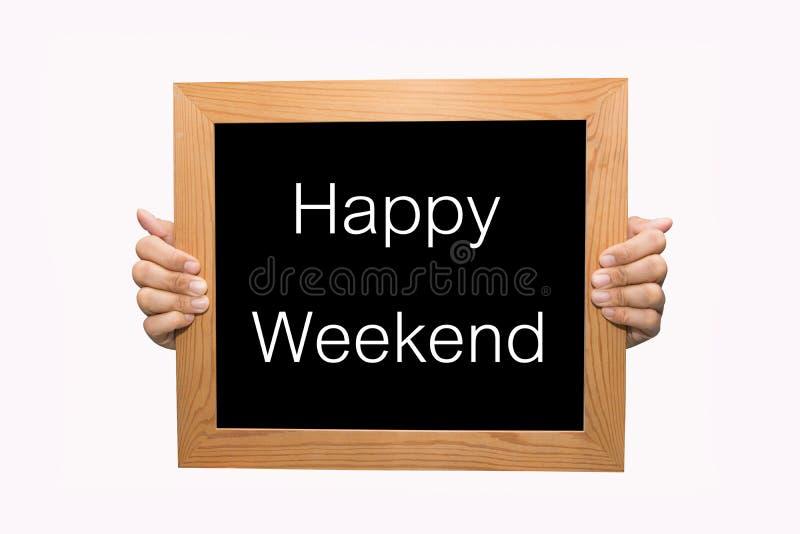 Gelukkig Weekend stock foto's