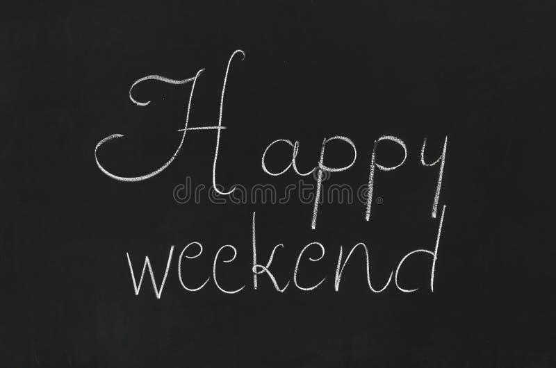 Gelukkig Weekend stock fotografie