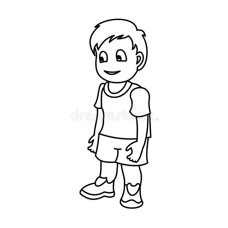 Gelukkig weinig jongen vector illustratie