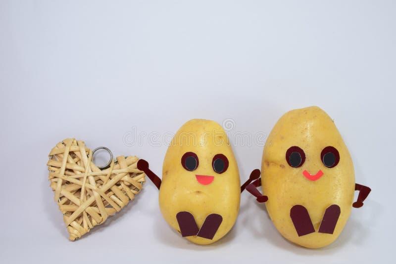 Gelukkige aardappels stock afbeeldingen
