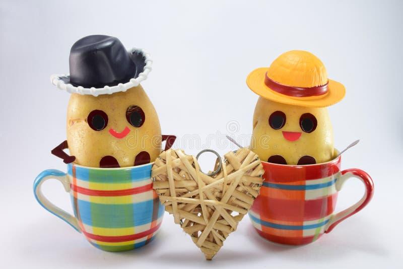 Gelukkige aardappels royalty-vrije stock foto