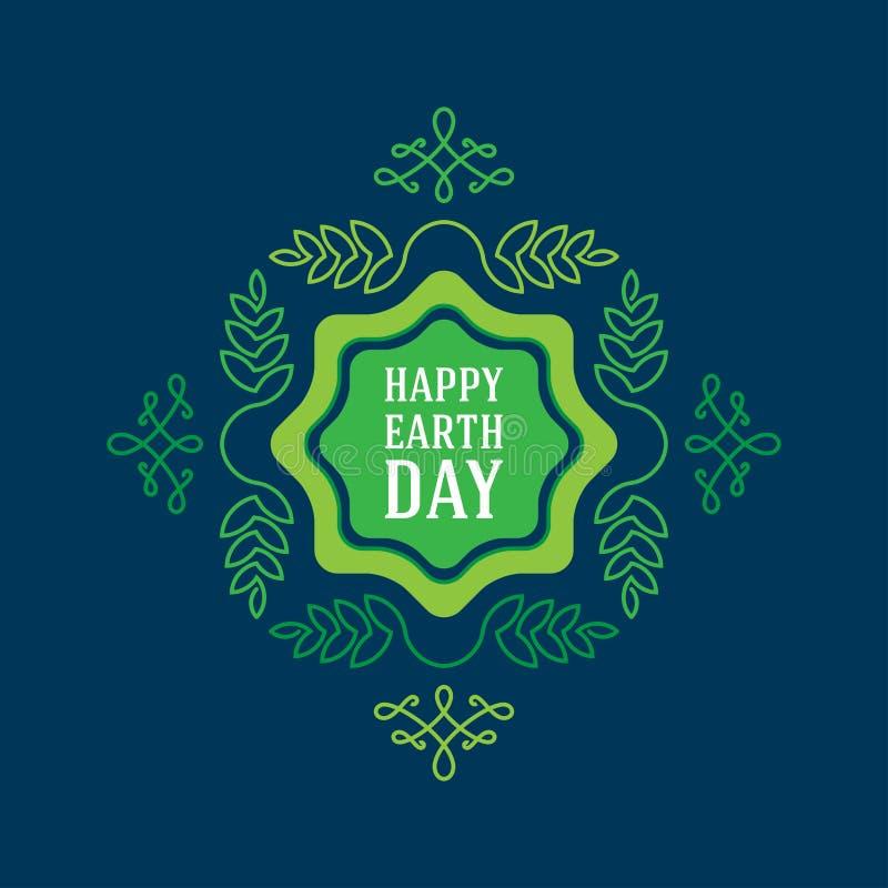 Gelukkige Aardedag, 22 April, grafische affiche met de elementen van het lineartontwerp vector illustratie