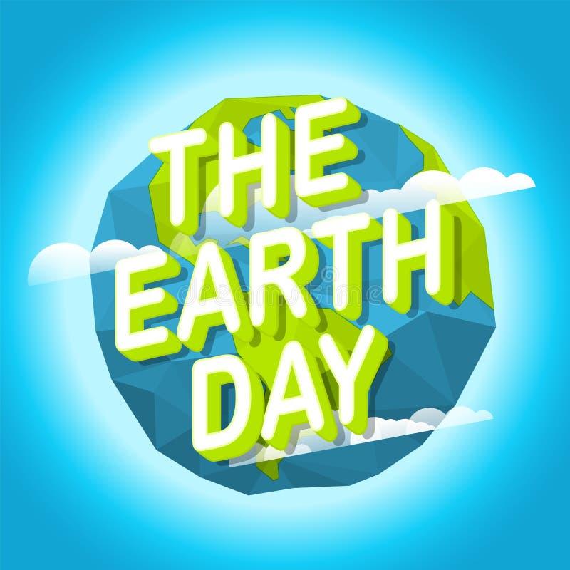 Gelukkige Aardedag De Dag van het Milieu van de wereld vector illustratie