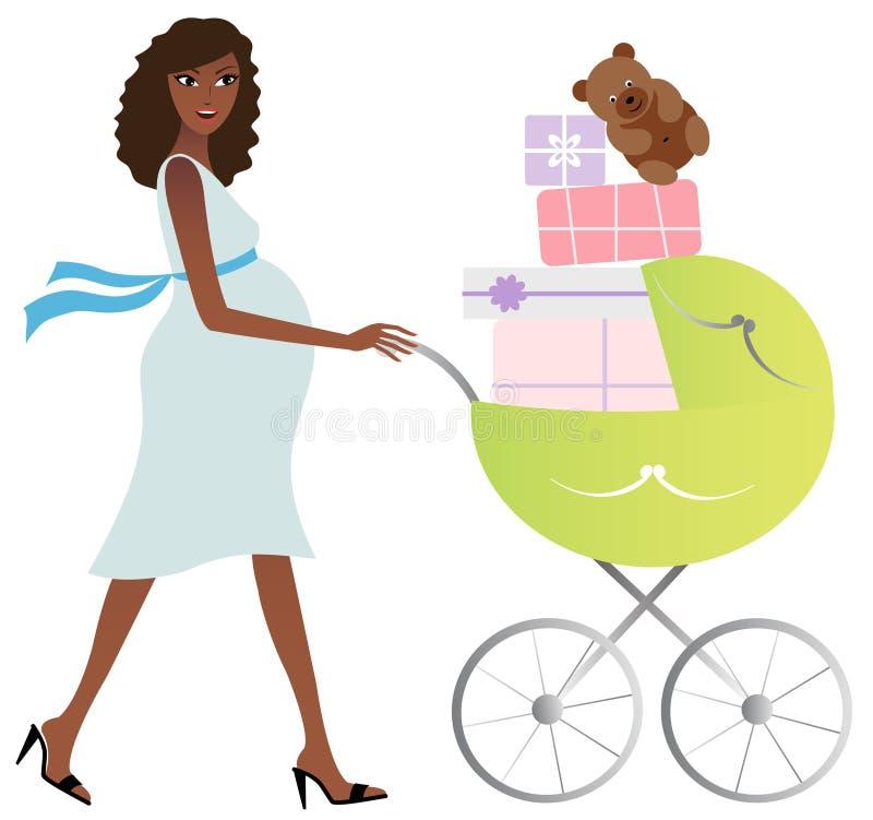 Gelukkige Afrikaanse Amerikaanse moeder stock illustratie