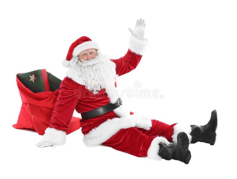 Download Gelukkige Authentieke Santa Claus Stock Foto - Afbeelding bestaande uit nieuw, menselijk: 107703108
