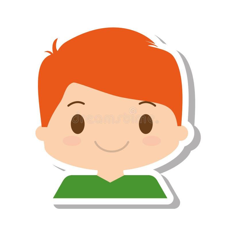 Gelukkige avatar van het jongenskarakter royalty-vrije illustratie