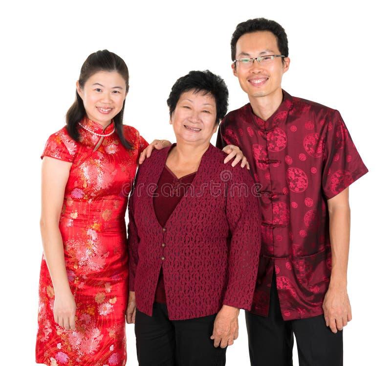 Gelukkige Aziatische Chinese familie stock foto's
