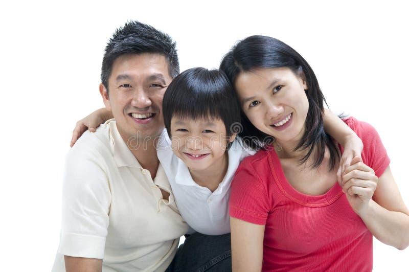 Gelukkige Aziatische familie royalty-vrije stock foto's