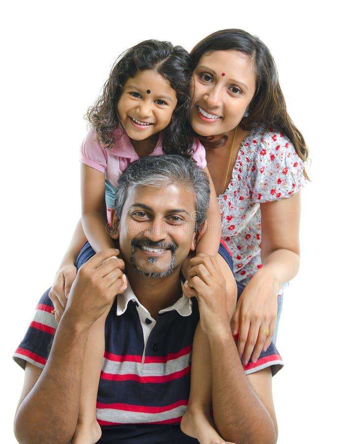 Gelukkige Aziatische Indische familie royalty-vrije stock afbeelding