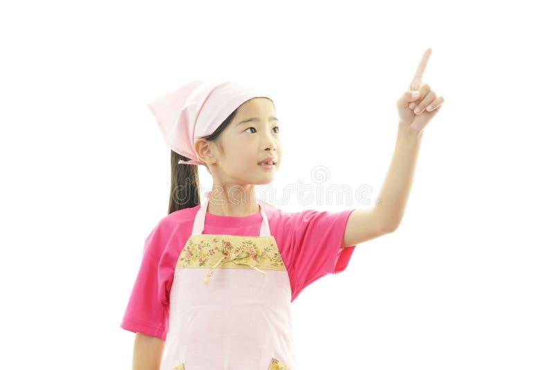 Gelukkige Aziatische meisjesglimlach stock afbeeldingen