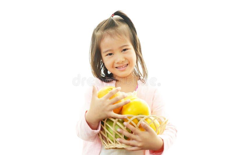 Gelukkige Aziatische meisjesglimlach royalty-vrije stock foto's
