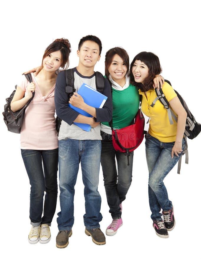 Gelukkige Aziatische studenten stock fotografie