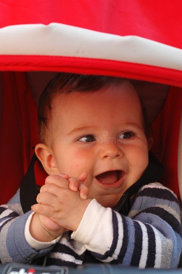 Gelukkige babyjongen royalty-vrije stock foto