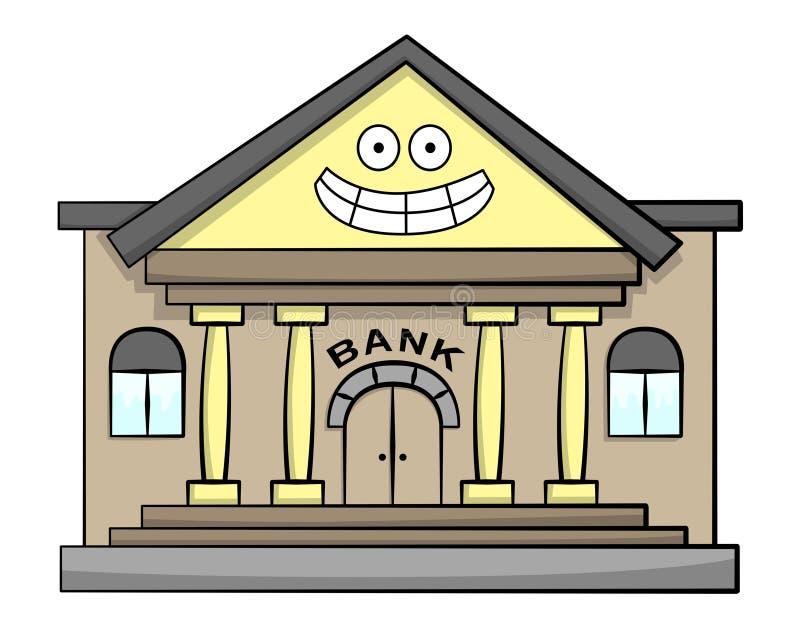 Gelukkige bank vector illustratie