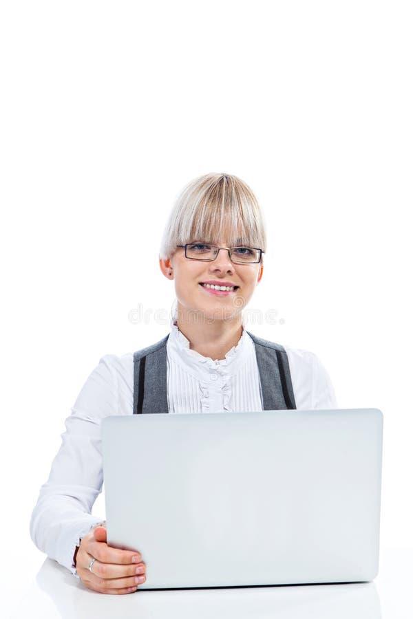 Download Gelukkige bedrijfsvrouw stock foto. Afbeelding bestaande uit work - 29500498