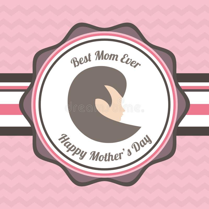 Gelukkige beste het mamma ooit kaart van de moedersdag stock illustratie